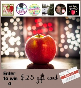 $25 TpT Gift Card Giveaway An Apple for the Teacher June 4